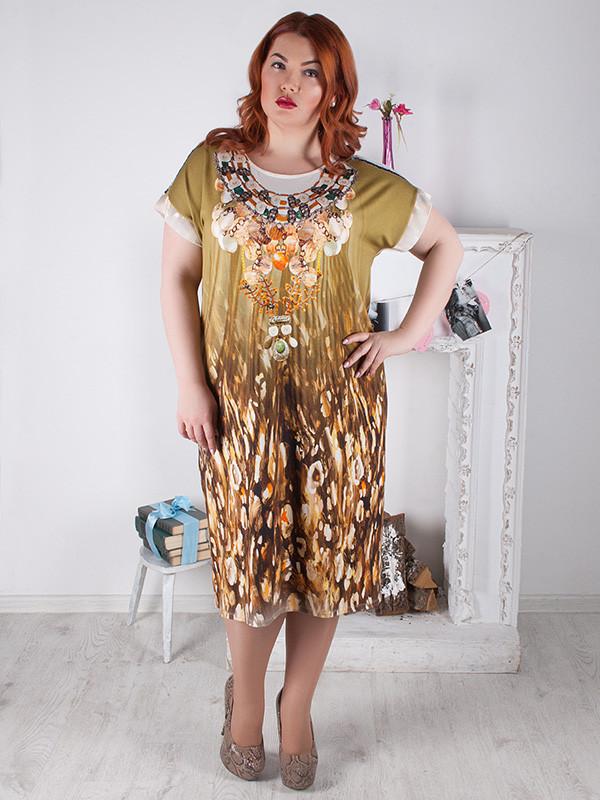 Женское летнее платье большого размера №611