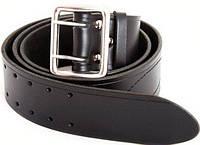 Ремни офицерские кожаные черного цвета, 100 - 140 см