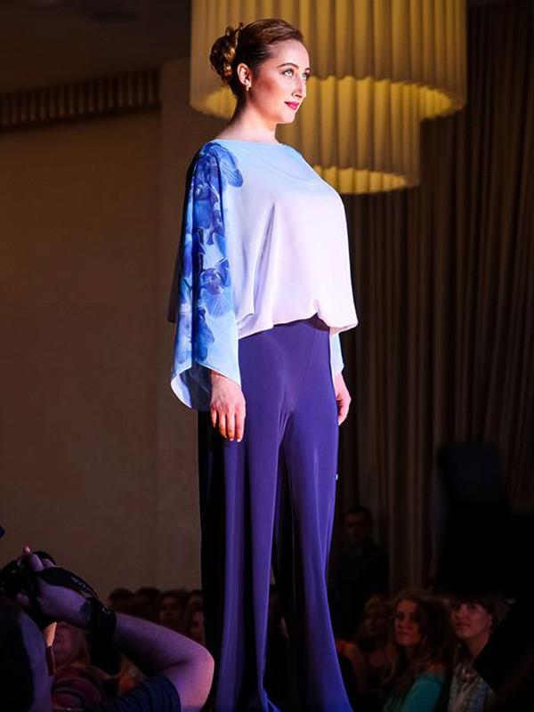 Вечерний наряд: брюки+блуза №712