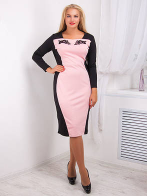 Платье женское с контрастной вставкой №716, фото 2