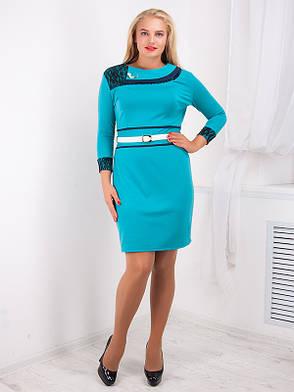 Нарядное женское платье 54 размера №729, фото 2
