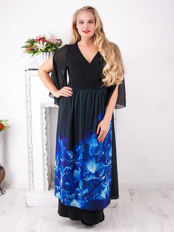 Вечернее платье больших размеров №795