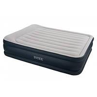 Надувная кровать двухместная Intex 67738 со встроенным насосом