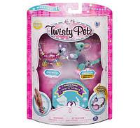Набор Twisty Petz Набор 3 браслета, ожерелье Мышка, кенгуру и питомец-сюрприз