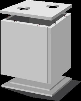 Теплокамеры сборные КП-2 (ПП22.14.2 )