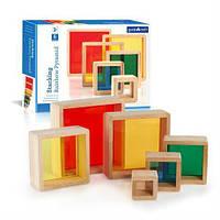Набор блоков Guidecraft Block Play цветная пирамидка Guidecraft (G5066), фото 1