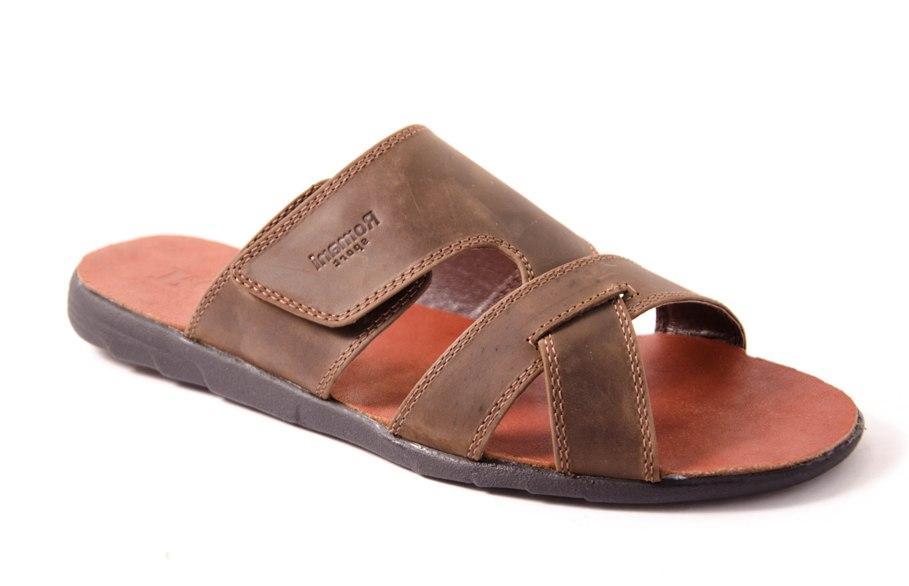 Шлепанцы мужские коричневые Romani 4430806 р.40-45