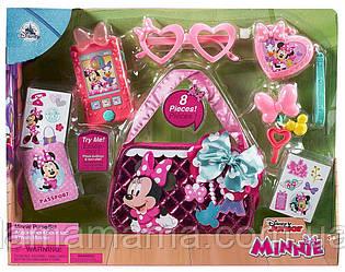 Игровой набор Сумка с аксессуарами и интерактивным телефоном Минни Маус Minnie Mouse Purse Set for Kids