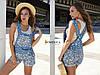 Комбинезон ромпер женский модный джинсовый с цветами Ddc1642