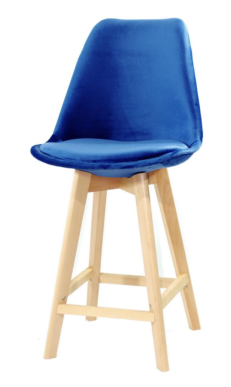 Полубарный стул Milan Soft, синий