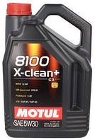 Масло моторное 5W-30 (5л.) Motul 8100 X-clean+ 100% синтетическое