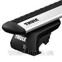Багажник для авто c рейлингами Thule Evo WingBar серебристый 7104-711X