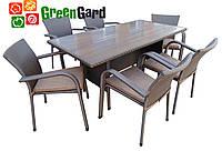 Комплект садовой мебели из искусственного ротанга на 6 человек GreenGard