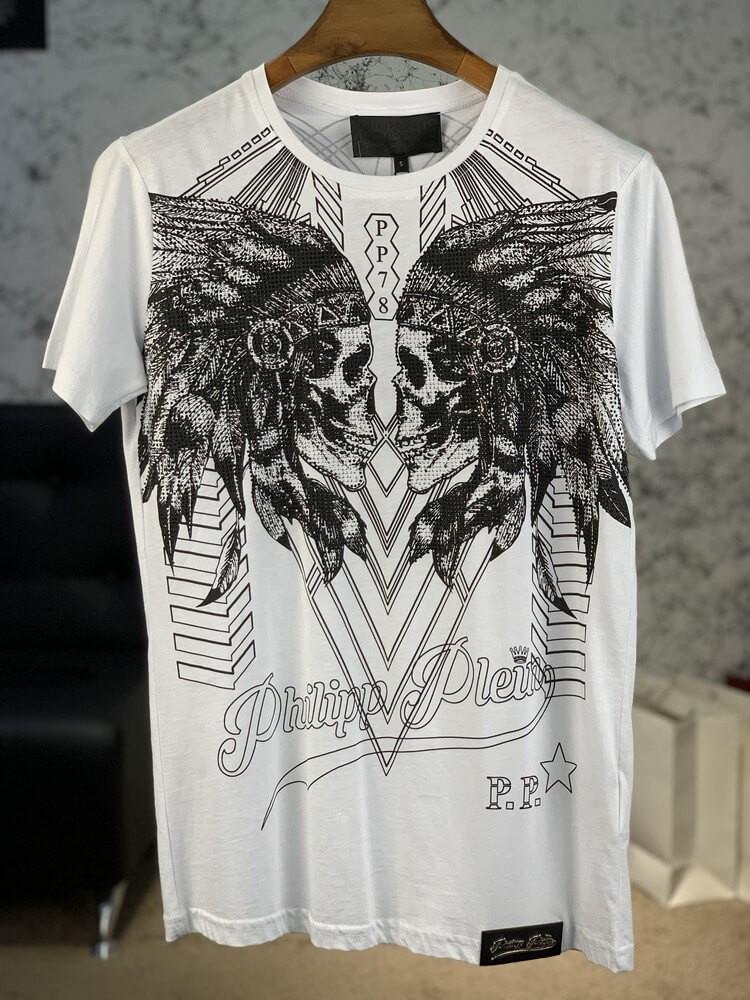 T-Shirt Philipp Plein Round Neck Dramatic White