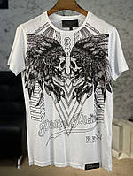 T-Shirt Philipp Plein Round Neck Dramatic White, фото 1