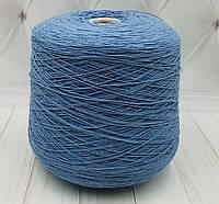 Хлопковая пряжа Ozalee Anny Blatt (хлопок 100%, 500/100 гр.голубой джинс)