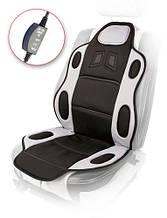Накидка на сидения H 19002 GY/BK (115x49см) с подогр. высокая/перекл