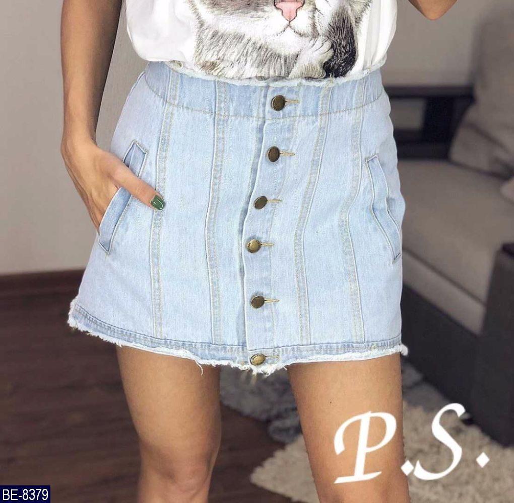 Юбка женская джинсовая короткая. Размер L. На бедра 98-100см