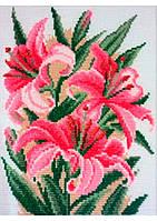 Набор для вышивания крестиком 014 Д 'Розовые лилии'