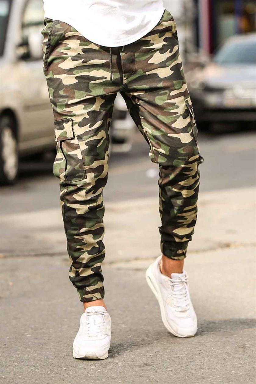 Мужские брюки карго камуфляжные Madmext Premium