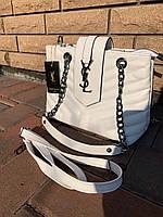 Женская сумка Yves Saint Laurent (Ив Сен Лоран), белый цвет