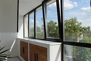 Алюминиевые окна в квартире 3