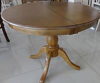 Стол Виктория 100(140)*100 Орех Лесной (круглый раздвижной на одной ноге), фото 1