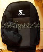 Авточехлы для PEUGEOT 301 с 2012- (с буграми сзади)