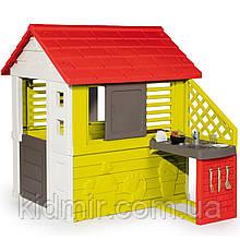 Садовий будиночок дитячий ігровий Сонячний з літньою кухнею Smoby 810713