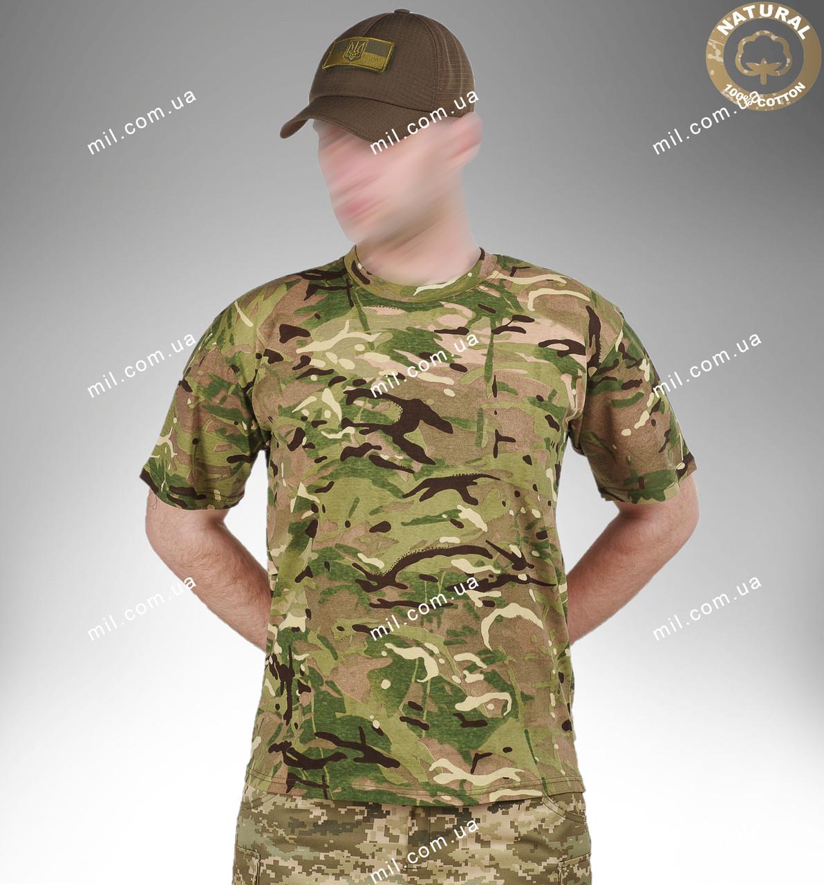 Тактическая военная футболка T-shirt  MTP ХБ (multicam)