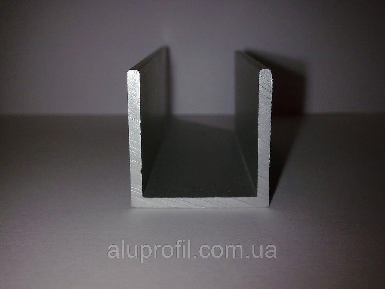 Алюминиевый профиль — п-образный алюминиевый профиль (швеллер) 19х19,7х1,5 Б/П