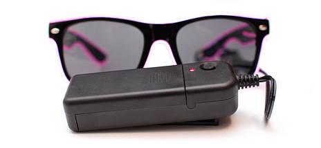Светодиодные неоновые светящиеся ЛЕД очки затемненные комплект с инвентором LED Neon Party Glasses, фото 3