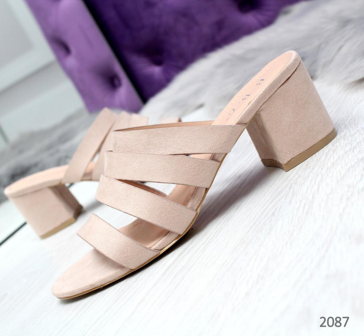 19584a2f3 Женские шлепки пудра на каблуке : продажа, цена в Одессе. сандалии ...