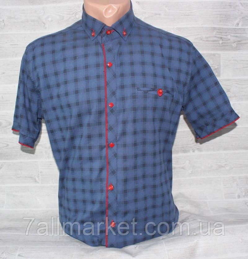 2caa98c13572016 Рубашка мужская летняя в клетку, размеры M-3XL