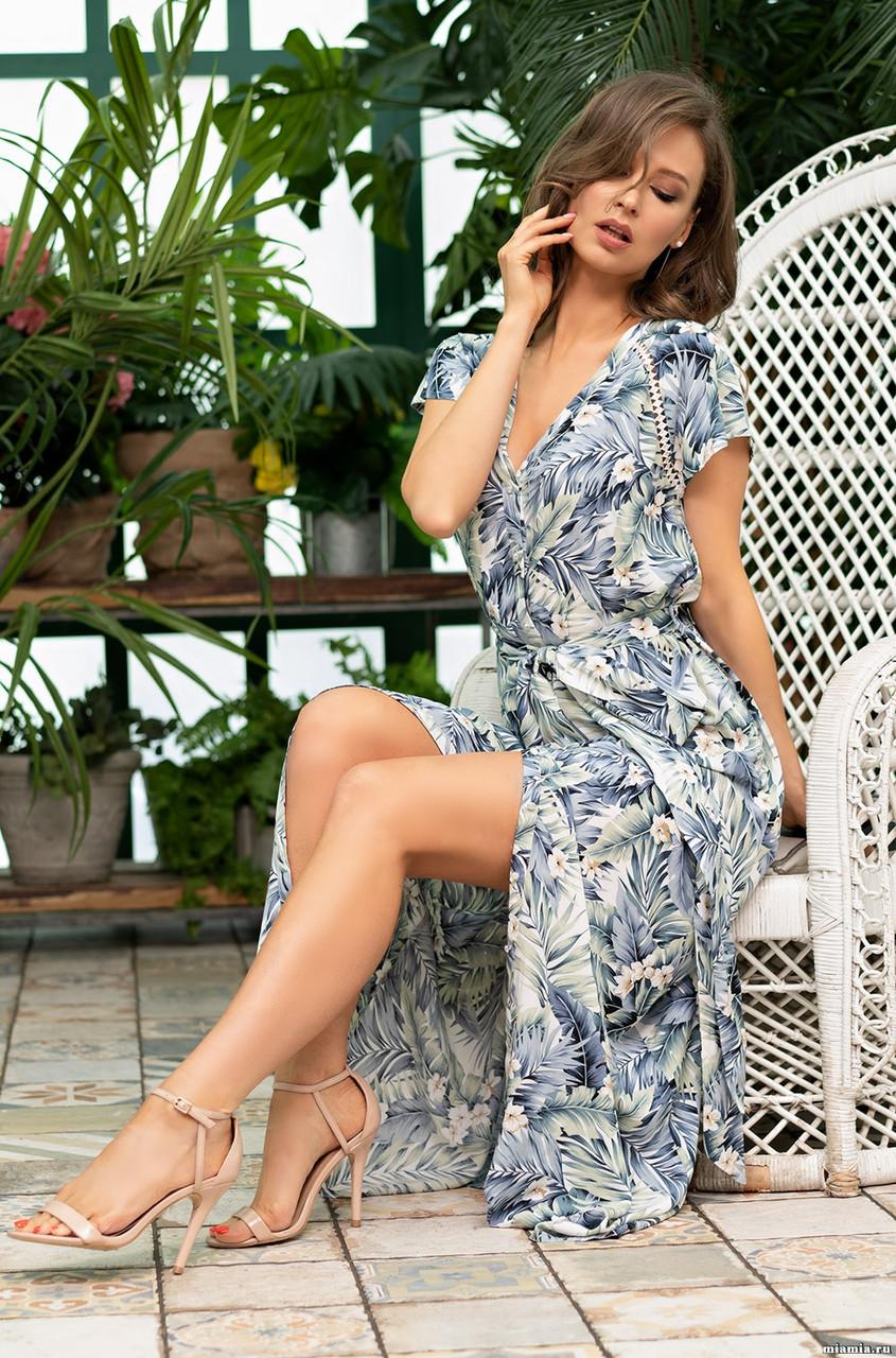 Платье рубашка из легкой вискозы. Италия. Mia Mia  Мадейра 6978