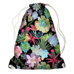 Рюкзак-мішок Тропічні квіти (RM_16J036_BL)