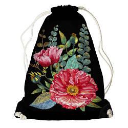 Рюкзак-мішок Деревоподібна півонія (RM_16J039_BL)