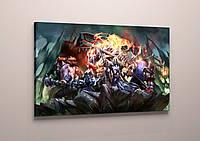 Герои игры Лига легенд League Of Legends на картине холст 60х40