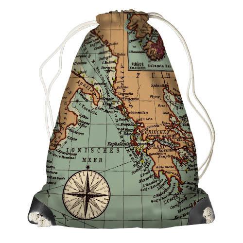 Рюкзак-мешок Карта (RM_TRV006_SE)
