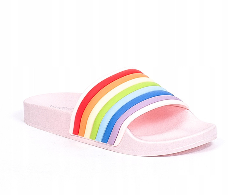 Женские шлепанцы Rainbow pink