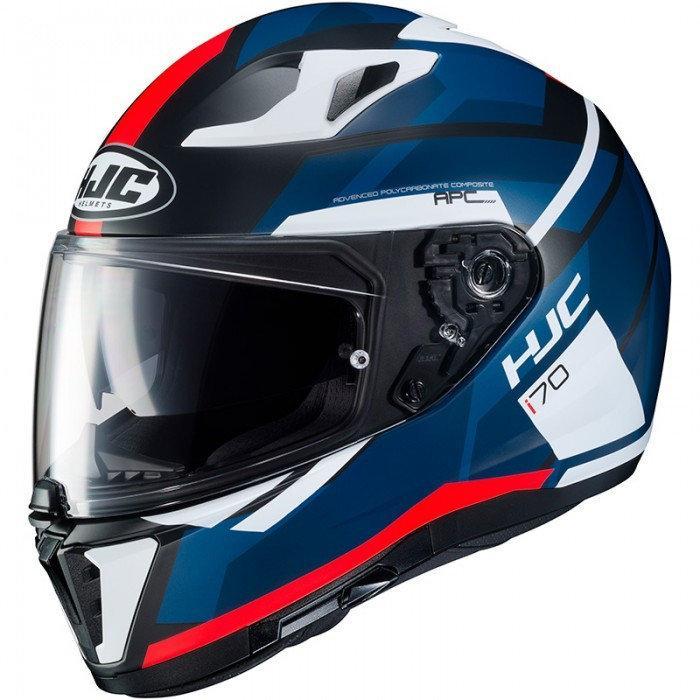 Мотошлем HJC I70 Elim MC1SF синий / красный / белый, XL
