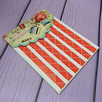 Уголки для фотоальбомов, красные в горошек, 78 шт/уп