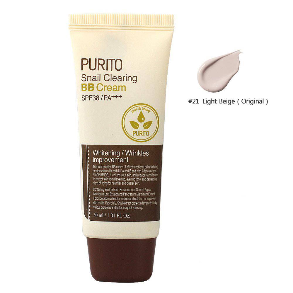 Purito Snail Clearing BB Cream #21 Light Beige (SPF38 PA+++) 30ml