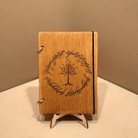 Скетчбук A5 The Lord of the Rings. Блокнот с деревянной обложкой., фото 1