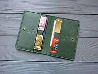 Холдер для прав и водительских документов из натуральной кожи _зеленый