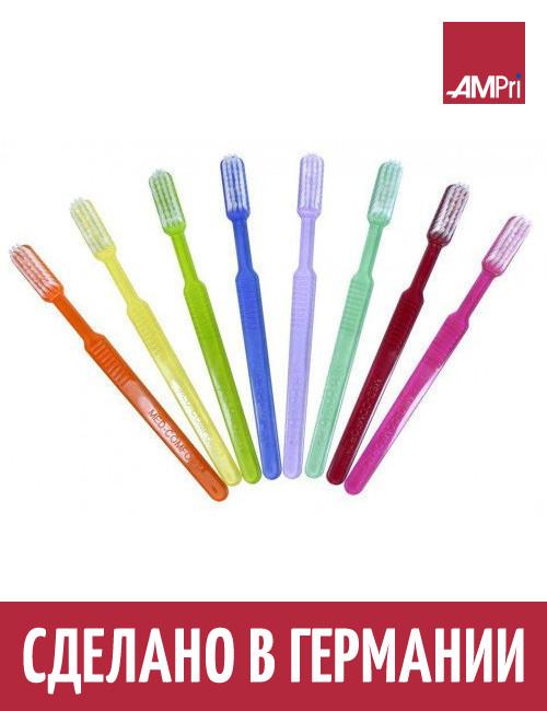 Зубные щетки MED COMFORT Ampri одноразовые с чистящей пастой 10 УП 1000 шт фиолетовые
