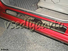 Защита порогов - накладки на пороги Chevrolet Tacuma 2000-2008 гг. (Standart)