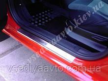Защита порогов - накладки на пороги Fiat GRANDE PUNTO 3-дверка с 2005-2009 (Standart)