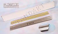 Защита порогов - накладки на пороги Fiat GRANDE PUNTO 5-дверка/PUNTO EVO 5-дверка с 2005-2009- (Standart)
