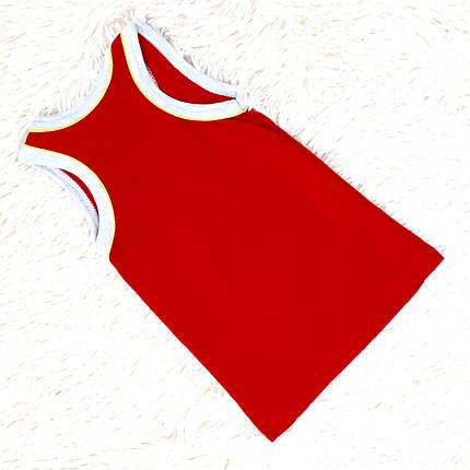 Майка на мальчика детская красного цвета (Украина) размер 92 98, фото 2